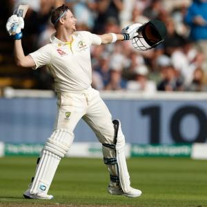 Ashes PIX: Smith ton leads Australia recovery in opener