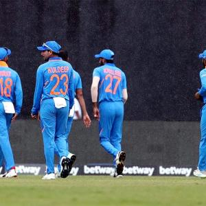West Indies vs India first ODI abandoned due to rain
