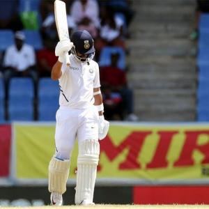 PHOTOS: Rahane rescues India on rain-hit Day 1