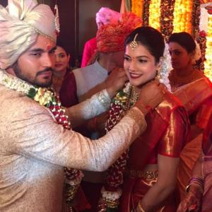 PIX: Manish Pandey gets hitched to actress Ashrita