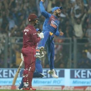 PHOTOS: Batsmen fire India to thumping win over Windies