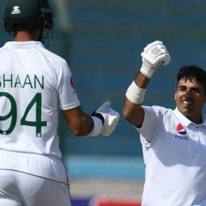 Karachi Test: Abid, Shan tons flatten Lanka on Day 3