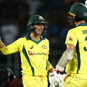 PHOTOS: Australia pip India in last-ball thriller in 1st T20I