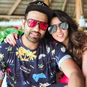 Hello world! Rohit Sharma shares baby's first photo