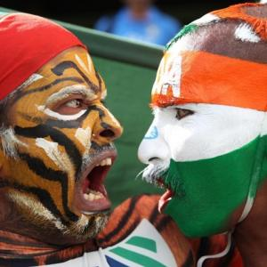 PIX: Fans face off before India Bangladesh tie