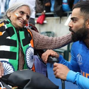 WATCH: This 87-year-old fan catches Kohli's attention