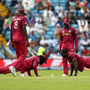 PIX: Windies win but Gayle fails in World Cup swansong