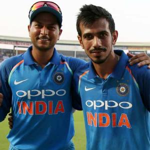 How Chahal is helping Kuldeep improve his bowling