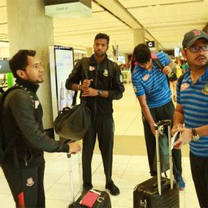 Bangladesh cricketers return home after narrow escape in New Zealand