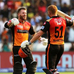 IPL PIX: Bairstow, Warner star in Hyderabad's win