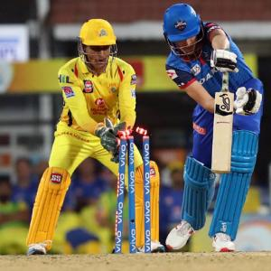 PICS: Dhoni, spinners excel as Chennai rout Delhi