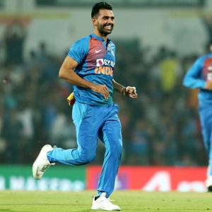 Chahar registers best figures in T20 Internationals