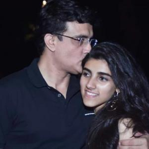 Insta-banter: Ganguly gets trolled by his daughter!