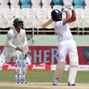 How Rohit helped India dominate Day 1