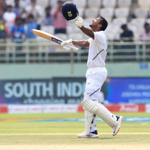 PHOTOS: Agarwal's double century puts India in control
