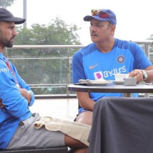 Here's how Shastri and Dhawan spent their morning!