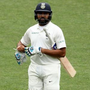 Rohit out for a duck as opener in warm-up match