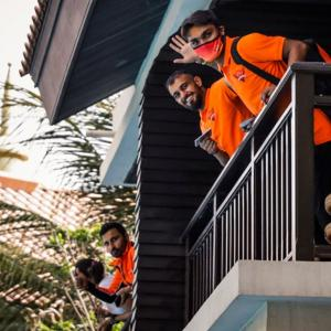 IPL quarantine: Players use balconies to chat, workout