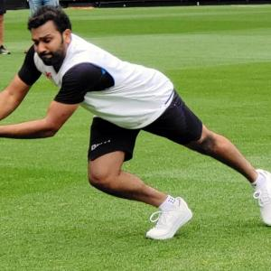 PIX: Rohit has just got the engine started