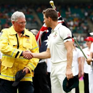 PICS: Players pay tribute to firefighters in Sydney
