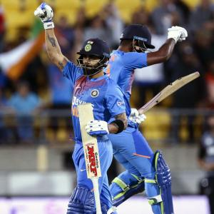 PIX: India edge past NZ again in Super Over thriller
