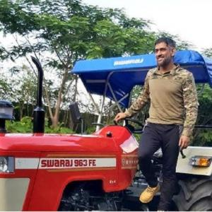 SEE: Dhoni adds tractor to his hot wheels collection