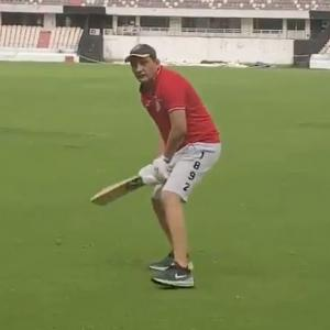 SEE: Azharuddin, 57, flicks it like old times