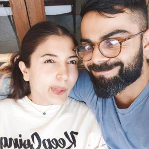 Kohli and Anushka keep spirits up with goofy selfie
