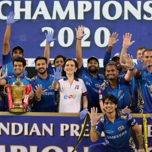 PICS: Mumbai Indians outclass Delhi for 5th IPL title