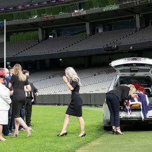 SEE: Family bid farewell to Dean Jones with lap of MCG