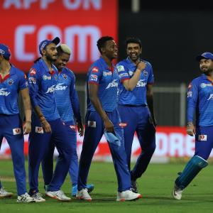 Iyer lauds bowlers as Delhi defend 'under-par score'