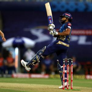 PHOTOS: Rohit leads Mumbai Indians rout of KKR