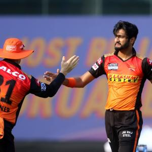 PICS: SunRisers outclass Punjab Kings for first win