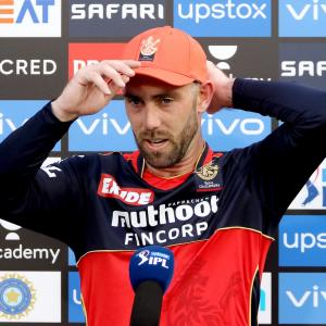 Glenn Maxwell at home with RCB