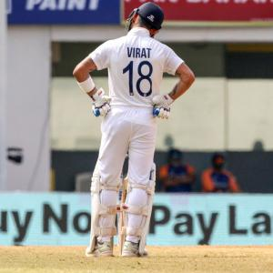 Kohli rues shoddy batting display in Chennai Test