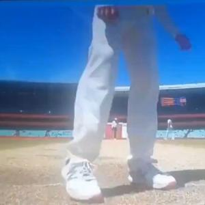 Smith caught scuffing pitch, denies cheating claims