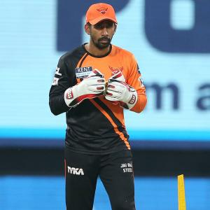 Sunrisers' Saha tests positive for COVID-19