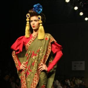 Varun Bahl's sensual geisha fantasy at Couture Week