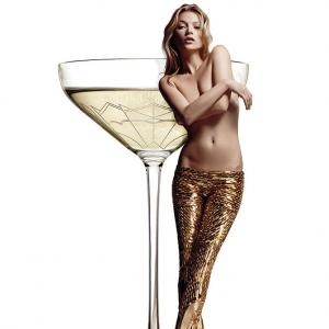 A champagne glass modelled on supermodel Kate Moss' left breast!