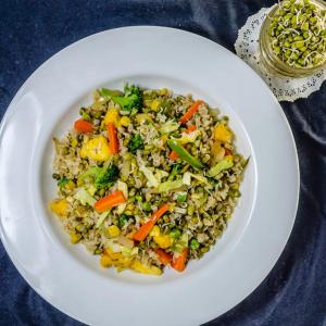 Recipe: Brown Rice and Sprouts Pulao