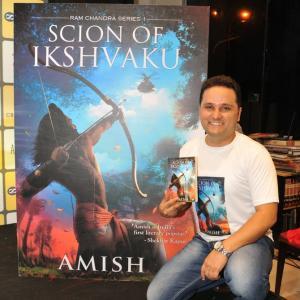 Amid cries of Jai Shri Ram, Amish launches his latest book