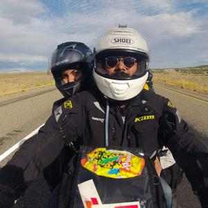 This couple is travelling the world on their BIKE