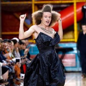 OMG! Men in gowns at the London Fashion Week