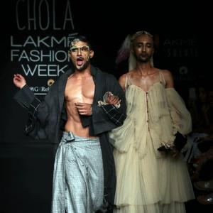 Why is Prateik Babbar dressed like a drag queen?