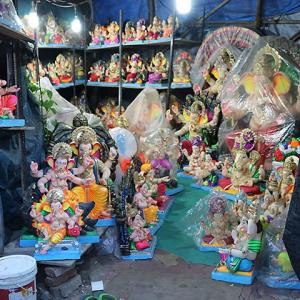 Labour of love: The artists behind the Ganesha idols