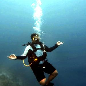 When I went scuba diving in the Maldives