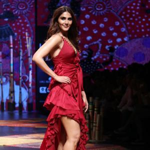 Incredibly sexy! Vaani Kapoor slays in a red slit gown
