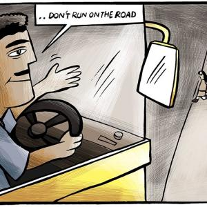 An accidental lesson on unsafe roads