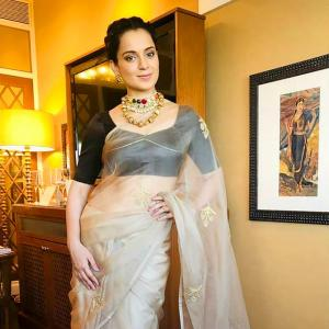 One sari a day! Kangana channels her inner Manikarnika