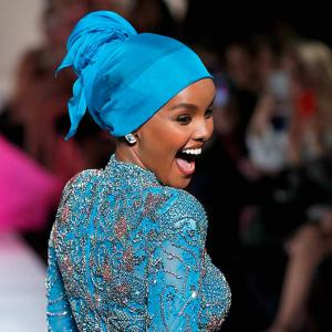 At 21, hijabi model Halima Aden turns designer